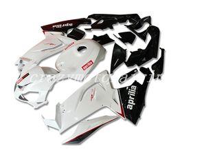 4Gifts New ABS Injection Mold motocicleta Carenagens Kits 100% apto para Aprilia RS125 06 07 08 09 10 11 2006-2011 carenagem carroçaria preto branco