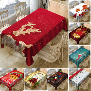 Table Cloth Nouvel An Imprimé Noël 3D imperméable pleine polyester Nappe maison Décorations de Noël Couverture Table DHL WX9-1728