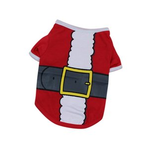 Ropa del gato ropa para perros de verano para perro pequeño chaleco del animal doméstico Ropa del perrito de la camiseta Chihuahua Chiwawa vestuario ropa de Navidad para mascotas