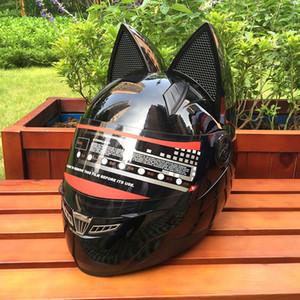 Il casco moto gatto orecchio, il quattro stagioni antinebbia casco NITRINOS