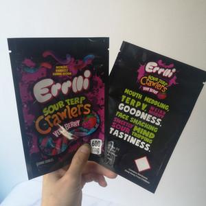 Yeni Geliş 600mg Errlli Ekşi Terp tarayıcılar Maylar çanta Dankest Gummi Solucan mylar çanta geçirmez Çok Berry Ambalaj çanta kokla