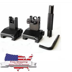 Sollevare vedere Caccia accessori Anteriore Posteriore vibrazione di backup Fino vedere Fold mire metalliche per l'AR-15 / M4 / Con Regolare lo strumento