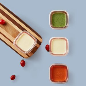Suplemento de armazenamento de vidro Original Xiaomi Youpin Kalar Baby Food Container Box Comida Copo Silicone Food Box infantil Crisper 3009398C3