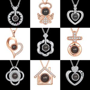 Ожерелье проекции Love памяти 100 языков я люблю тебя ожерелье олень есть ваше цеолит пятно на заказ романтические свадебные ожерелья