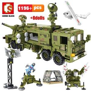 SEMBO BLOCK City WW2 Колесница ракетный автомобиль Модель автомобиля строительные блоки военная техника оружие армейский танк солдат фигурки кирпичи детские игрушки