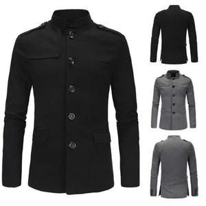 Erkek Coat Yeni Coat erkek 2 renk rüzgarlık rüzgarlık İngiliz tarzı ilkbahar ve sonbahar bezelye ceket tek göğsü İnce erkekler