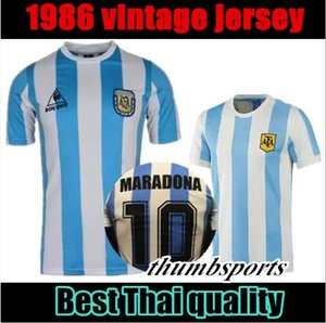 10 free dhl! 1978 1986 argentinien maradona home fußball jersey retro version 86 78 maradona messi caniggia hochwertiges fußball-hemd batistuta in