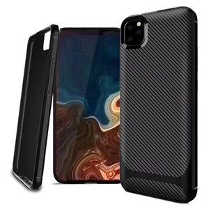 Для 2019 iphone XI Макс XIR Samsung Note10 Pro A10S A20S A30S ТПУ из углеродного волокна Задняя крышка Чехол Бесплатная доставка Розничная