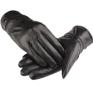 Harppihop Kürk 2017 Eldivenler Şapkalar, eşarplar Orijinal Siyah kırmızı bej deri erkek deri kışlık eldiven marka erkek eldivenleri