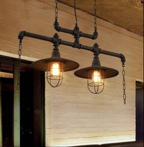 펜던트 조명 창조적 인 물 파이프 샹들리에 램프 맞춤형 미국 유럽의 산업 빈티지 샹들리에 옷 가게 카페 클럽 바