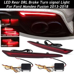 1 Pair 3 Function LED Rear Bumper Reflector Light For Mondeo Fusion 2013 2014 2020 2020 Car DRL Brake Turn signal