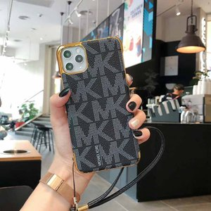 For IPhone 11 11Pro Max X XR XS 8 7 6 Plus Strap Electroplate Hard Phone Case Cover for iphone 11 Pro Max 8Plus 6sPlus PU Leather Shell