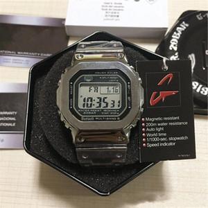 AVEC BOX G-style homme de luxe montres-bracelets supérieurs Quantité LED Afficher Sport Sport Sport Watch Shock étanche cadran carré