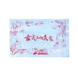 Disposable plastic tablecloth catering lobster hot pot take out waterproof oil proof independent packaging logo table mat customization