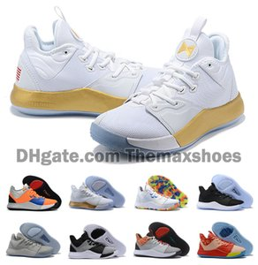 Hot 2019 Hommes Femmes Garçons Paul George PG 3 III PE 3S Apollo Missions nasa Sales Basketball Chaussures pas cher PG3 sport Chaussures de sport Taille US5.5-12