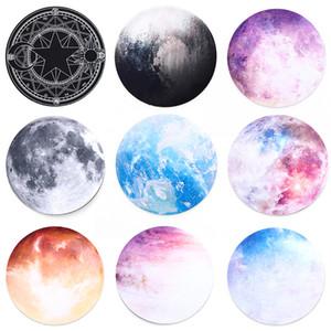 Runde Mauspad Planet Series Mat Erde / Venus / Mars / Merkur / Jupiter / Pluto / Rainbow Mond / Black Moon Computer Game Pad Anti-Rutsch