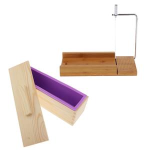 Meilleur Boîte en bois, moule en silicone savon Pain et du savon Cutter fil Slicer, pour le bricolage Savon / gâteau / fabrication du chocolat Outils