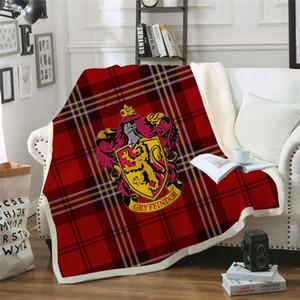 مدرسة هوجورتس 3D كريست غطاء اسكتلندا نمط مخصص مطبوعة الصوف القطيفة رمي غطاء المفرش غطاء ستوكات T191214