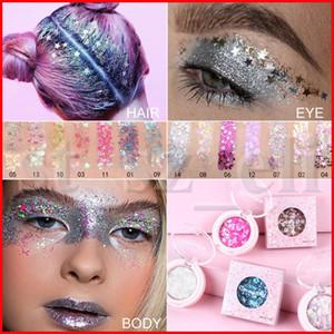 CmaaDu 12 colori singolo glitter Eye Shadow diamante paillettes luccicanti ombretto panna in polvere luminosa stella della luna a forma di cuore Trucco Occhi