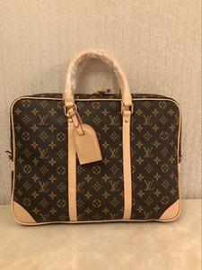 Briefcases Men Top Sell Fashion Simple Business Men Briefcase Bag Leather Laptop Bag Casual Man Shoulder Bags