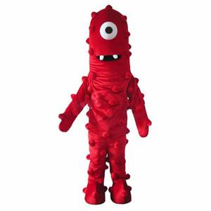 En iyi Muno Maskot Kostüm Gelen Yo Gabba Gabba Elbise Yetişkin Boyut Ücretsiz Kargo