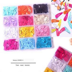 Children's hairpin set 50 3cm water drop macaron BB clips baking varnish clips Baby Metal Accessories