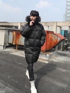 Veste hiver de Parkas Hommes Hommes Épais Chaud Long manteau 90% Duck Hommes Hommes Raccoon Fourrure Collier Coréen Puffer Parka 2021 J2640
