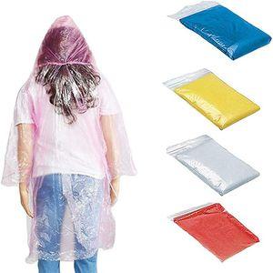 Disposable Raincoat Adult Emergency Waterproof Hood Poncho Travel Camping Must Rain Coat Unisex One-time Emergency Rainwear EEA1218