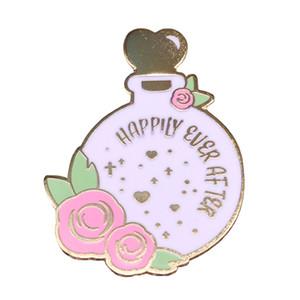 Felices para siempre Broche de pociones mágicas insignia preciosas flores broche de cuentos pasadores accesorio hermoso