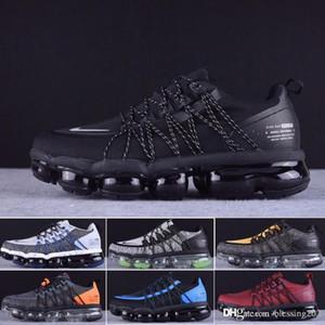2019 Yeni Run Utility Erkekler Tasarımcı Ayakkabı Üst Siyah Antrasit Beyaz Gümüş Koşu Ayakkabıları Spor Sneakers Boyutu 40-45 A6987 Yansıtacak
