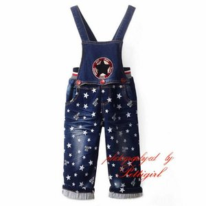 Spring Kids Boys Overalls Star Print Fashion Boys Autumn Suspender Pants Wholesale Kids Clothes SP81017-1