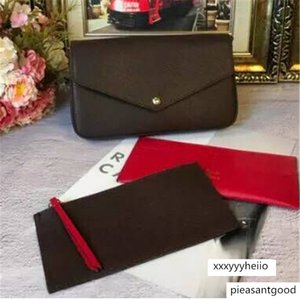 2020 P0CHETTE FELlClE chain three piece Wallet high Genuine Leather Clutch handbag with dust bag and