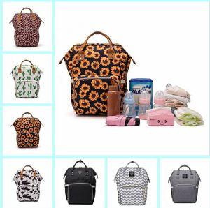 Hamile Sırt Anne Bezi Çanta Yeni Çok Fonksiyonlu Sırt Anne Sırt 25 renk LXL313 Anne Bags yazdırmak leopard