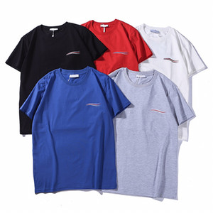 Mens Brand Casual Print Wave Creative T-Shirt Solid Breathable T-Shirt Loose Crew Neck Short Sleeve Male Tee