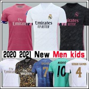 2020 real Modric Benzemá Madrid jersey de fútbol Bale Jovic Rodrygo Peligro Kroos Marcelo Sergio Ramos Mariano Camiseta de Fútbol