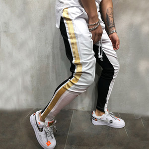 Pantalones de chándal casuales de Tether para hombres Pantalones de diseñador para hombres Muscle Brothers Multi-Color Matching Hip hop Pies pequeños
