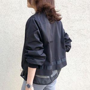 2020 Korean Japanese Style Patchwork Women Coat Zipper Up Jacket Ladies Casual Autumn Outwear Coats Women Clothing Long Sleeve