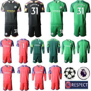 19 20 Torhüter Erwachsene Kit Männer Langer Ärmel Fußball Kleidung 31 Ederson M. 1 C.BRAVO Fußball-Trikots 2020 Sport Outfit Strips Uniformen
