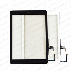 50PCS New Touch Screen Glass Panel with Digitizer Home Buttons for iPad 5 5th 2017 A1822 A1823 free DHL