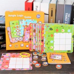 Orman Animal Logic Board Game Oyuncak Montessori Etkileşimli Yaratıcı Oyuncak Aile Partisi Çocuk Eğitici Oyuncaklar