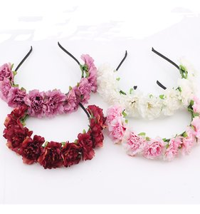 headdress manual Flower crown Garland Halo Wreath rose hair wedding wreath Headpiece headwear decoration girl