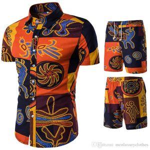 Marca de moda Mens Verão Designer Ternos Praia Seaside Holiday Camisas Shorts Conjuntos de Roupas 2 pcs Fatos de Treino Floral