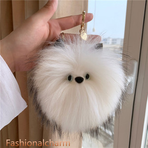 "15cm 6""- Real Raccoon Fur Ball Pompom Bag Charm Keychain Accessories Phone Purse Handbag PendantTassels Gift"