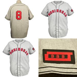 Birmingham Barons noir 1948 Maillot Route personnalisé Hommes Femmes Enfants Baseball Jersey Tous Nom et numéro Double Stitched