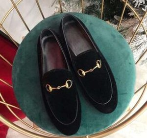 las mujeres del diseñador de los zapatos bordados botón de caballo tela escocesa zapatos planos cerrojo hebilla del holgazán de coincidencia de colores zapatos retro 02