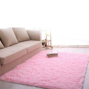 Nueva manta mullida Anti-Skiding lanudo manta de área de Comedor Alfombra Alfombra de piso rosa lanudo alfombras Shag alfombras A609 LMP