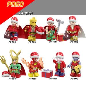 Weihnachten Marvel Super Heroes of Galaxy Avengers Filme Videospiel-Cartoon Blocks Spielzeug Figuren Blöcke POGO1645