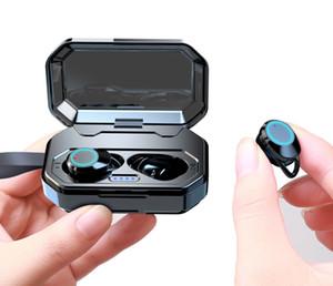 TWS Earbuds, Bluetooth 5.0 Earbuds IPX7 Waterproof Headphones Auto Pairing in-Ear Earphones Wireless Headset with 3000mAh charging case