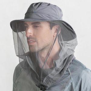 Reisende Ourtdoors Removable Schal Breathable Ineinander greifen Fischer-Hut Wide Brim Hat Wasserdicht Boonie Hats Camping Männer Bucket Hat Sun Cap 60cm