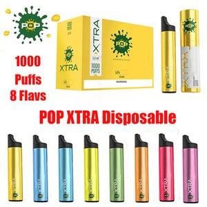 POP XTRA Tek Cihaz Pod Seti 550mAh Pil 3.5ml Kartuşları 1000 poğaçalar Karşıtı Kaçak Vape Kalem VS Bidi MR BUHAR HYPPE BAR Setleri boşaltmak